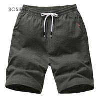 BOSIBIO 2018 Mens Summer Shorts Cotton Solid Loose Casual Shorts Elastic Waist Bermuda Masculina Plus Size