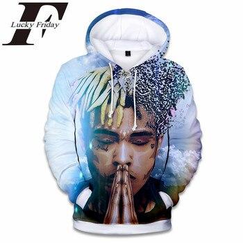 LUCKYFRIDAYF New Raper Xxxtentacion 3D Print Hoodies Men/women Fashion Hip Hop Xxxtentacion Men's Hoodies and Sweatshirt Clothes