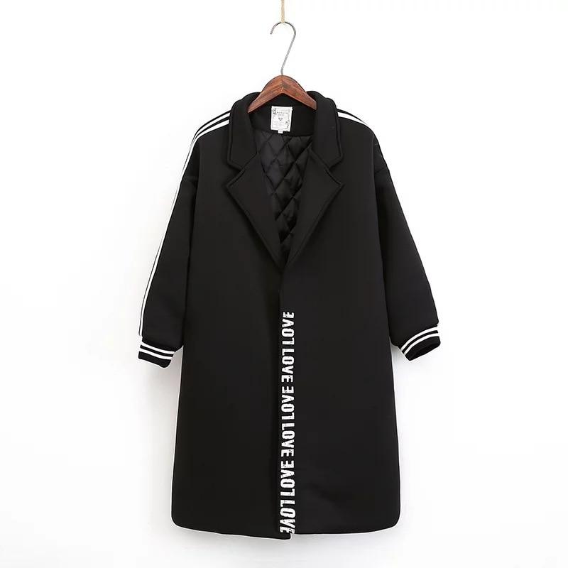 carta de Diseño de moda invierno de las mujeres capa de la chaqueta de algodón