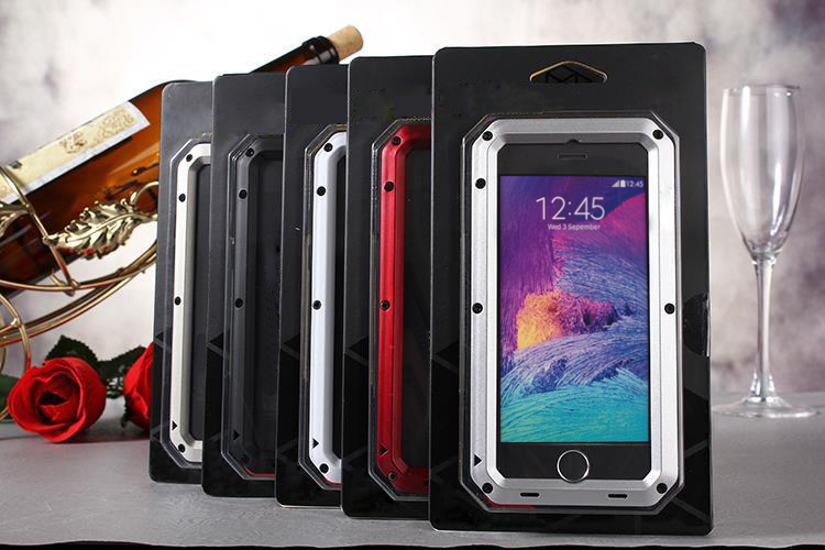 weatherproof Metal alloy Gundam Outdoor Climbing Silicon Cover Case for iPhone 6 Plus case 5.5inch with Glass screen