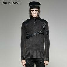Punk Rave Mens Sweater Punk Vintage Heavy Metal Hip Hop Streetwear Personality Winter Sweater for Men женский плащ punk rave y552