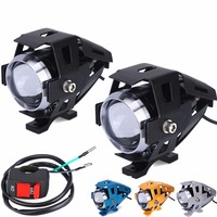 2Pcs 125W Motorcycle LED Headlight Waterproof LED Fog Light 3000LM U5 Cree Chip Motorbike Driving Spot