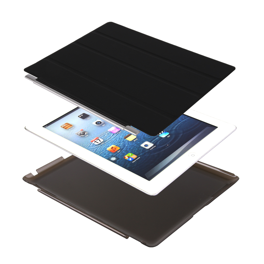 Cover For Ipad 4 Case, 2 In 1 Magnet PU Leather Smart Cover For Ipad 2 GOLP PC Back Flip Case For Ipad 3 Cover For Ipad 2 3 4