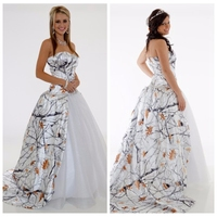 2019 New sweetheart White Camo Wedding Dress Beaded Camouflage Tulle Skirt Bridal Gowns Camouflage Vestidos De Mariee Snowfall