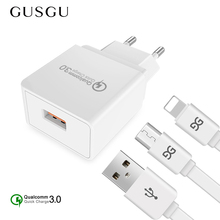 GUSGU 18W Quick Charge 3.0 Mobile Phone Charger for iPhone X