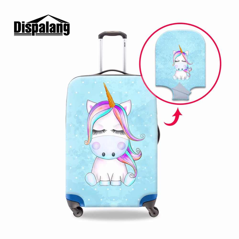Dispalang Cartoon Luggage Cover Cute Unicorn Printing Suitcase Protective Cover With Zipper Travel Accessories for 18-30 inch