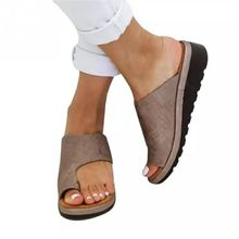 Buy Europe Women Slippers 2019 Summer New Slides Wedges Platform Shoes Flip Flops Fashion Casual Solid Ladies Shoes Plus Size 34-43 directly from merchant!