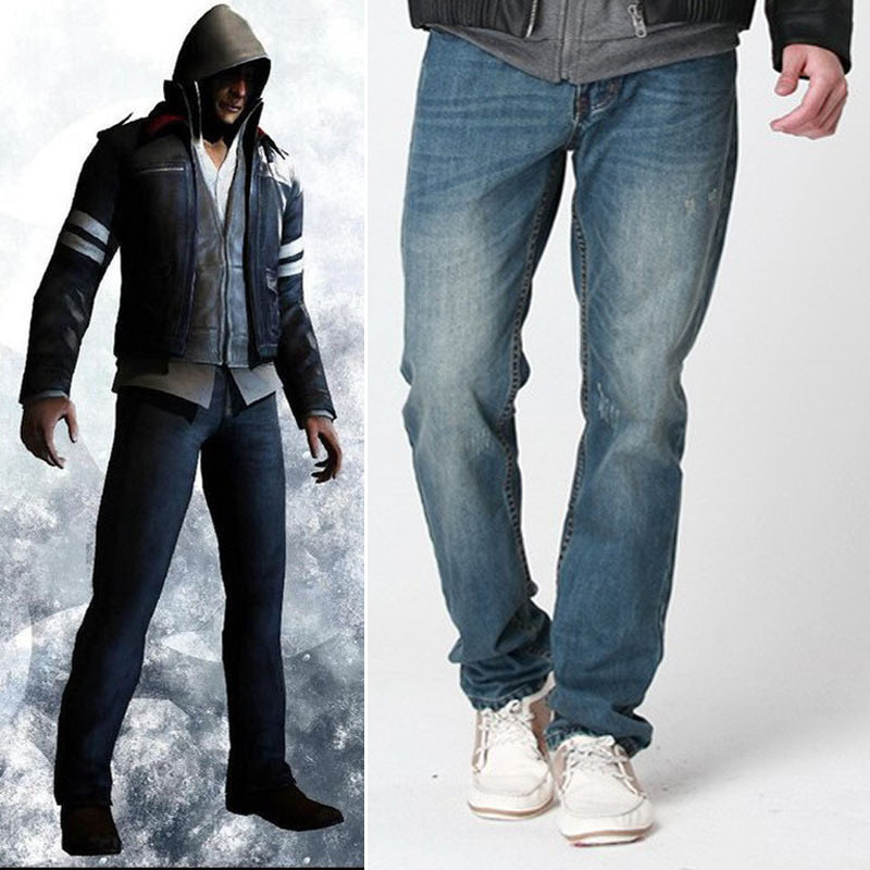 2015 New Arrival Prototype Alex Mercer Cosplay Jeans Full Length Casual Trousers Pants for Men