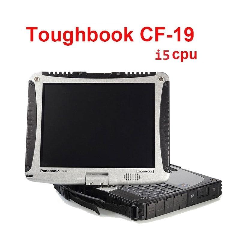 Bon cpu I5 CF19 ordinateur portable pour obd 2 scanner outil mb star c4 c5 c3 logiciel 2018.12 HDD SSD pour icom outil utiliser CF19 écran tactile PC