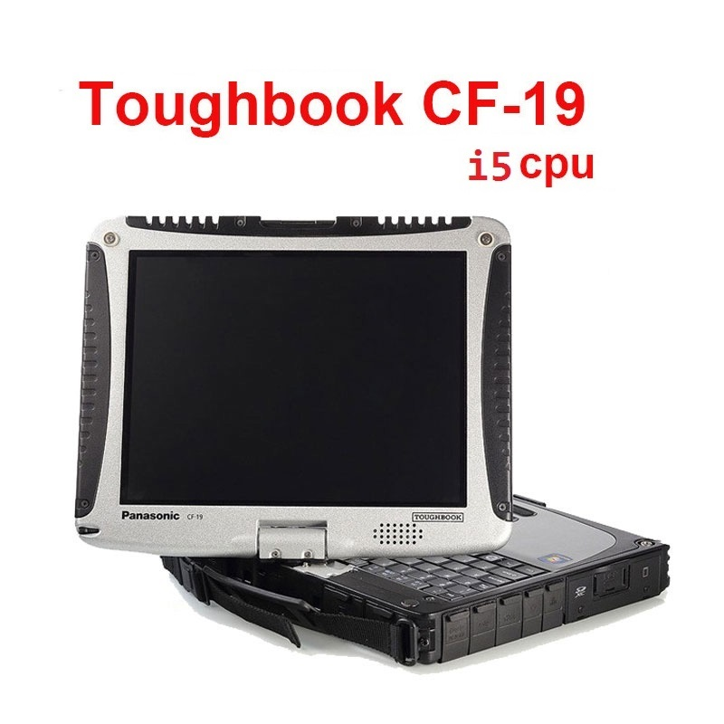 Buona cpu I5 CF19 computer portatile per obd 2 scanner tool stella di mb c4 c5 c3 software 2018.12 HDD SSD per icom strumento di uso CF19 touch screen del PC