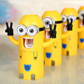 Yellow Minions Automatic Toothpaste Dispenser Bathroom Accessories Toothpaste Dispenser kids Toothbrush holder Bathroom Products