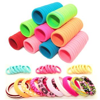 YWHUANSEN 40pcs/lot 2-3cm Hair Accessories Scrunchy Elastic Hair Bands Girls decorations Headdress acessorios Gum for hair ties