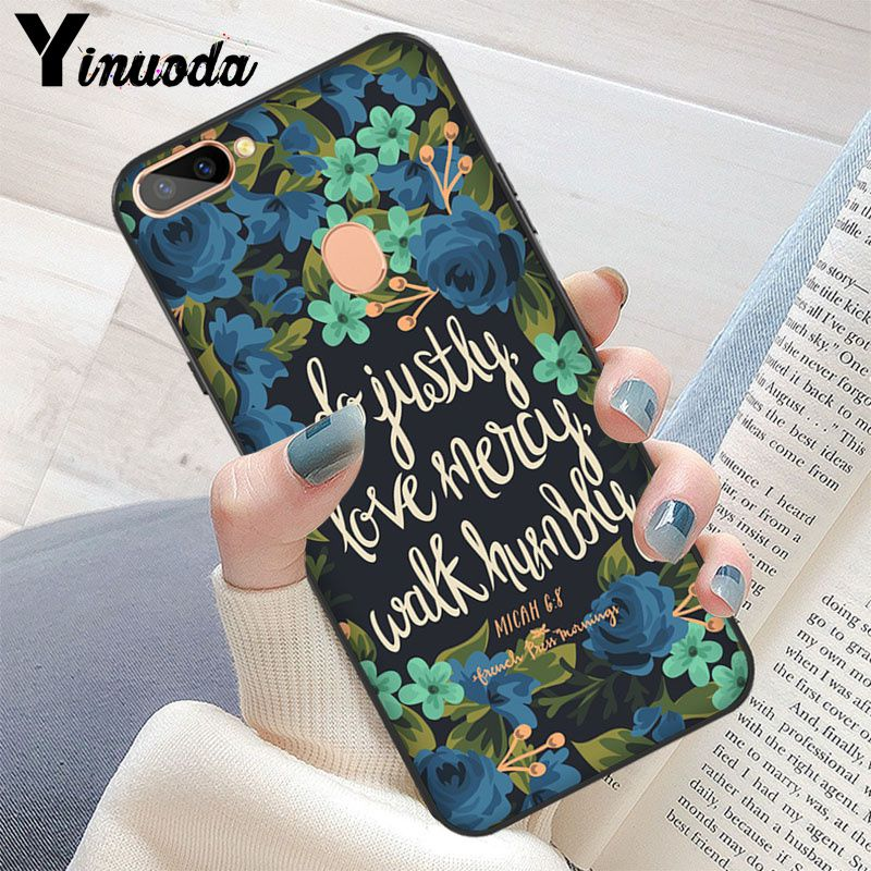 Yinuoda Bible verse Philippians Jesus Christ Christian capa black Phone  Case for OPPO R11 R11 Plus R11S R17/R17 Neo R9 R9S Plus