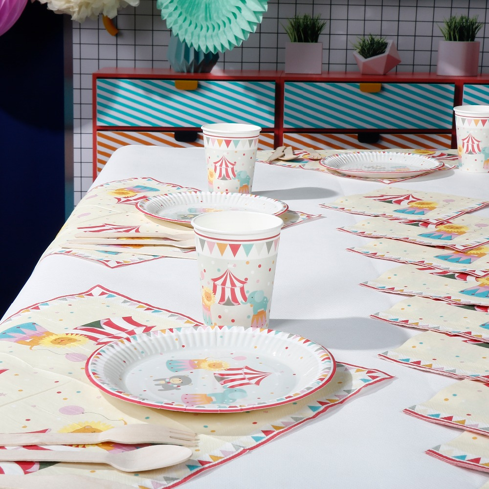 Riscawin The Circus Theme Paper Plates Set Birthday Party Decoration For 8 Packs Disposable Tableware Set Baby Shower Supplies-in Disposable Party Tableware ...  sc 1 st  AliExpress.com & Riscawin The Circus Theme Paper Plates Set Birthday Party Decoration ...