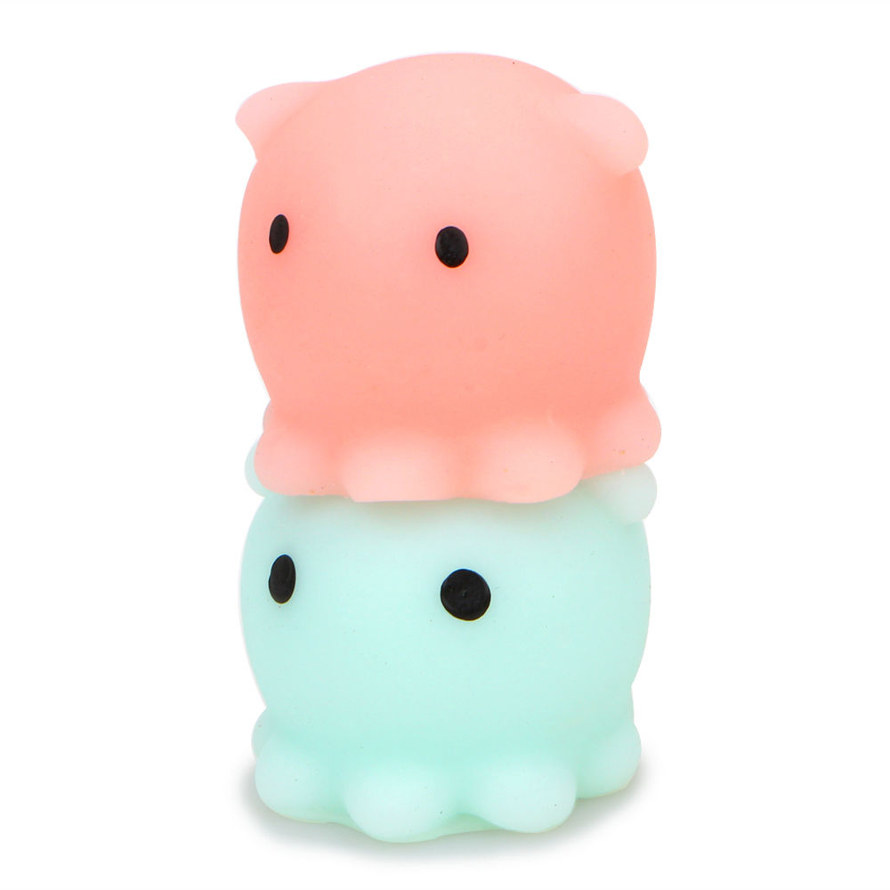 Kawaii Hand Squeeze Toy Cute Mini Healing Mochi Stress Octopus Squishy Stretchy Anti-stress Baby Kids Toys Phone Straps
