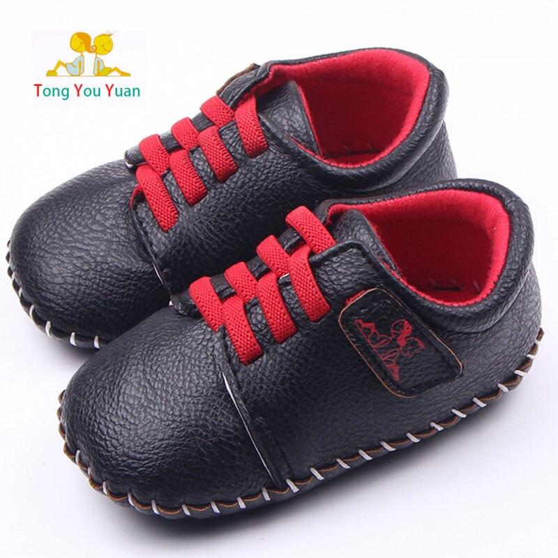Baby boy girl dobrze PU ręcznie szycie miękkie dno buty dla dzieci - Buty dziecięce - Zdjęcie 1
