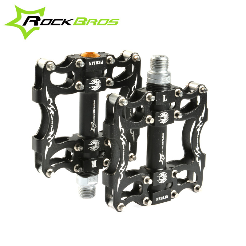 Rockbros Ultralight Mountain Bike Pedals Non-slip Widen Road MTB Bicycle Pedals Cycling Sealed Bearing Pedal Bike Accessories цена