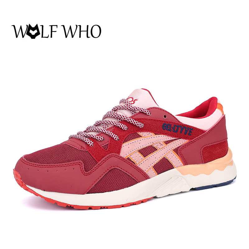 WOLF WHO Zapatillas Mujer Casual Women Trainers Couple Outdoor Walking Shoes Classical Cortez Chaussure Unisex Flat Shoes Autumn pop women outdoor mesh casual shoes lace up trainers rhinestone flat shoes platform walking shoes zapatillas deportivas xk082912