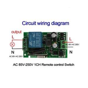 Image 3 - QIACHIP AC 250 V 110 V 220 V 1CH 433 Mhz Universelle Télécommande Sans Fil Commutateur Relais Module Récepteur Pour porte de Garage Porte Moteur