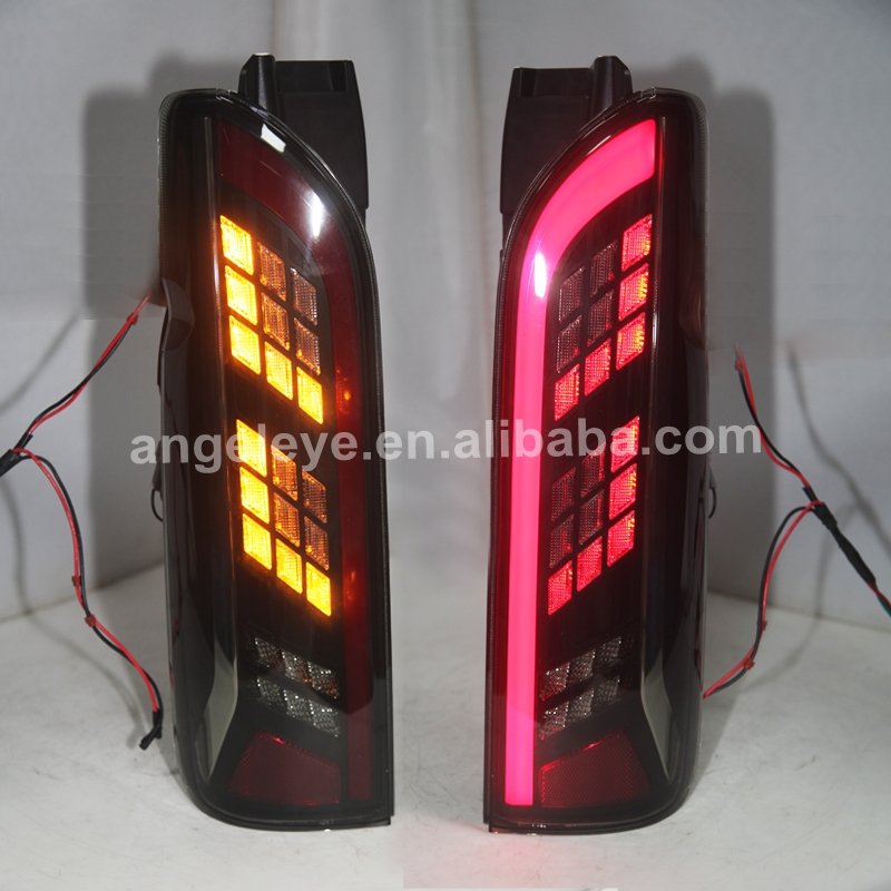 Full LED Tail Lights For TOYOTA HIACE Smoke Black Color 2014 UP YZ