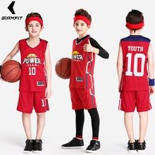 Jerseys de baloncesto juvenil uniformes para niños camisetas Retro de  baloncesto Juegos de entrenamiento ropa deportiva transpir. 911f28ed64400
