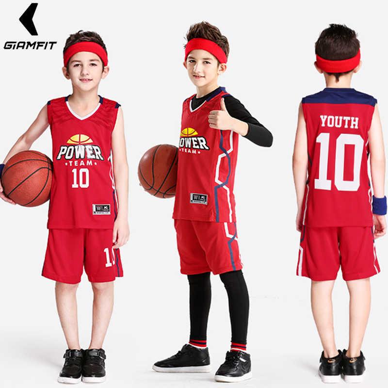 0fe1969f8 Youth Basketball Jerseys Uniforms for Boys Kids Retro Jerseys Basketball  Training Sets Custom Breathable Sportswear Vest