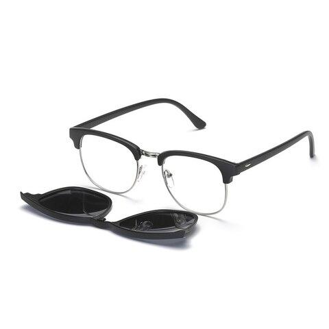 5 in 1 Clip On Sunglasses with Polarized Mirror Flat Night Vision Magnetic Lens Clips Optical Myopia Glasses Prescription Karachi