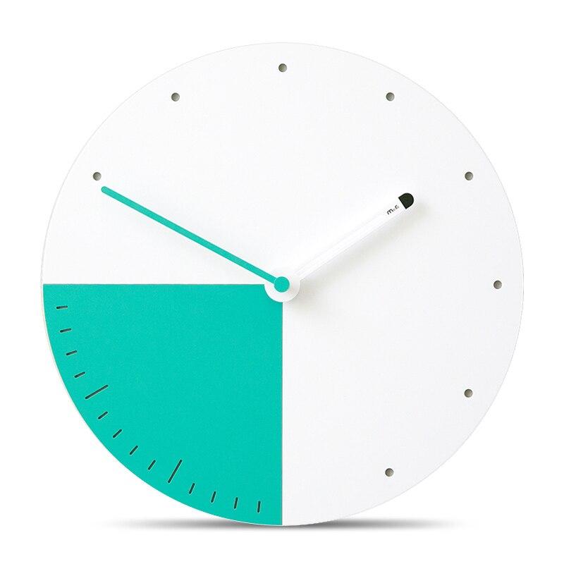 12 pouces mode le salon muet horloges mur décor à la maison ronde bois horloge murale Design moderne