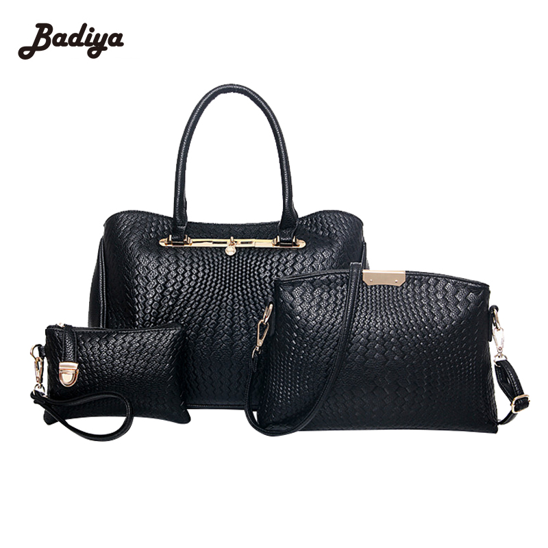 цены  Large Capacity Handbag Messenger Bag New Arrival Elegant Women Composite Bags And Clutches Set Europe Style Luxury Ladies Bags