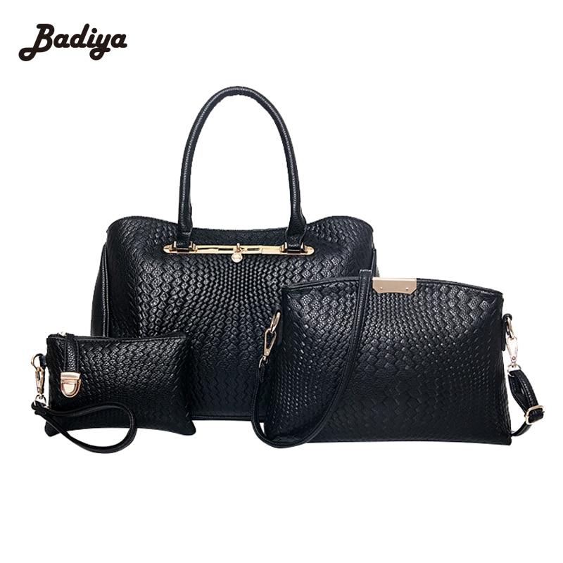 ФОТО Large Capacity Handbag Messenger Bag New Arrival Elegant Women Composite Bags And Clutches Set Europe Style Luxury Ladies Bags