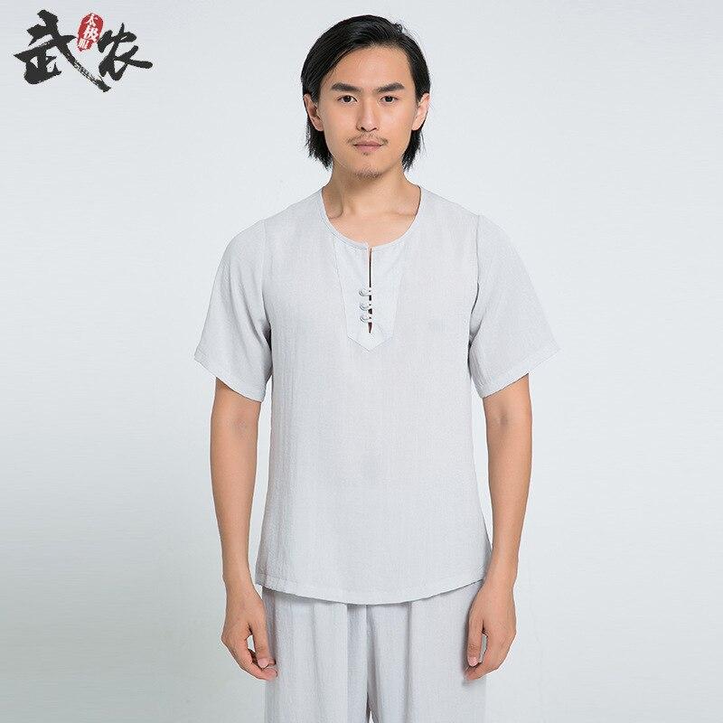 Martial Arts Tai Chi Suits Short Sleeve Tang Suit Taiji Clothes Kung Fu Uniform Wushu Shirt Pants Bardagalist Sett