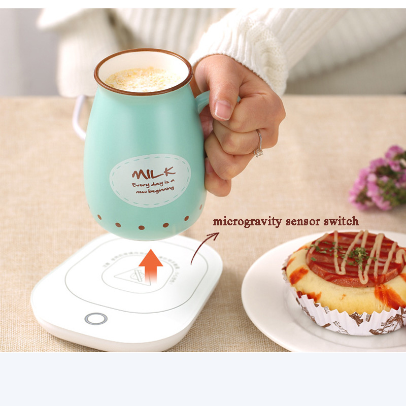 цены 220V Mini Portable Desktop Heater Hot Milk Machine Constant Temperaturet Household Warm Milk Cup Heating Coaster Mat