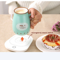 220V Mini Portable Desktop Heater Hot Milk Machine Constant Temperaturet Household Warm Milk Cup Heating Coaster Mat