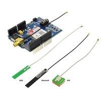 Elecrow SIM808 блютуз модуль Module Bluetooth Board GPS Shield for Arduino Quad Band GPRS/GSM/GPS shield 2 in 1 Developed Board