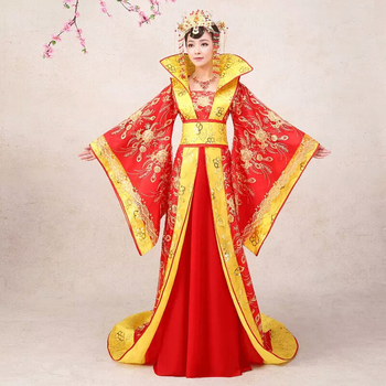 Chinese Ancient Perform Costums Hot Sale Stage Costume Dress Draggle-tail Dress Queen Of The Tang Dynasty Princess Clothing