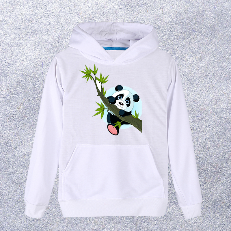 2018 Cute Panda printed Hoodie Men/Women White Sweatshirt Hooded Pullover Fashion Coat Clothes Spring Autumn #12