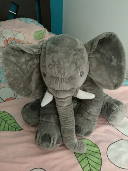 Image 5 - CAMMITEVER 2 Sizes Baby Pillow Elephant Feeding Cushion Children Room Bedding Decoration Bed Crib Car Seat Kids Plush Toys-in Cushion from Home & Garden