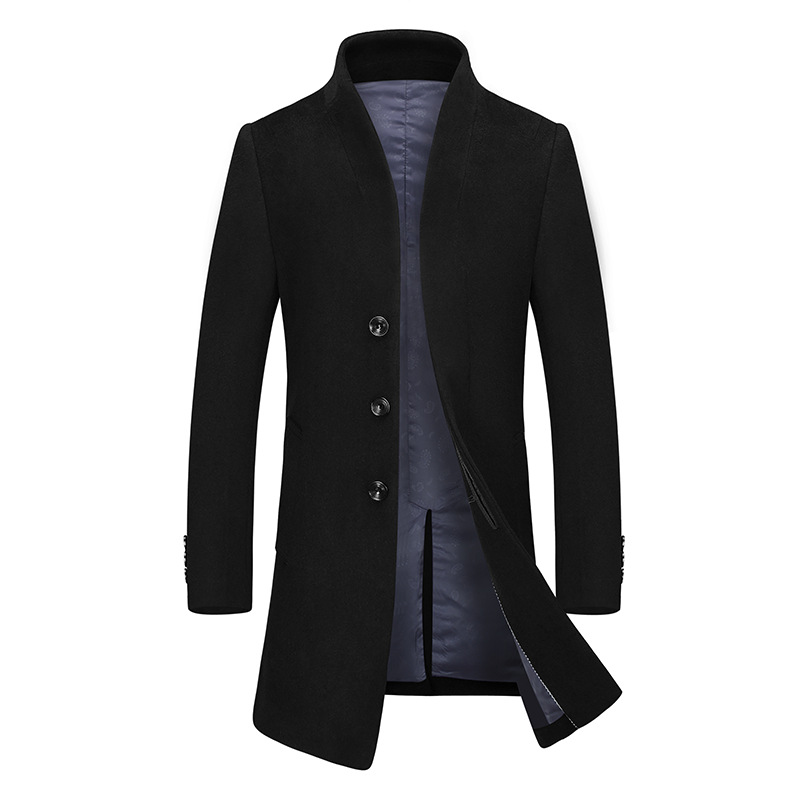 2018 Men Wool Long Trench Coats Woolen Blends Suit England Style Design Slim Wool Overcoat Mens Casual Jackets Coat For Men