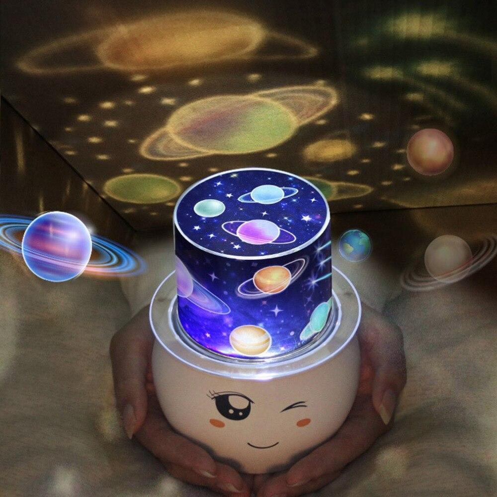 Снеговик Форма светодиодные лампы проектора мигающий Звездное Звезда Луна Небо романтический ночник для детей Украшения для детской рожде...