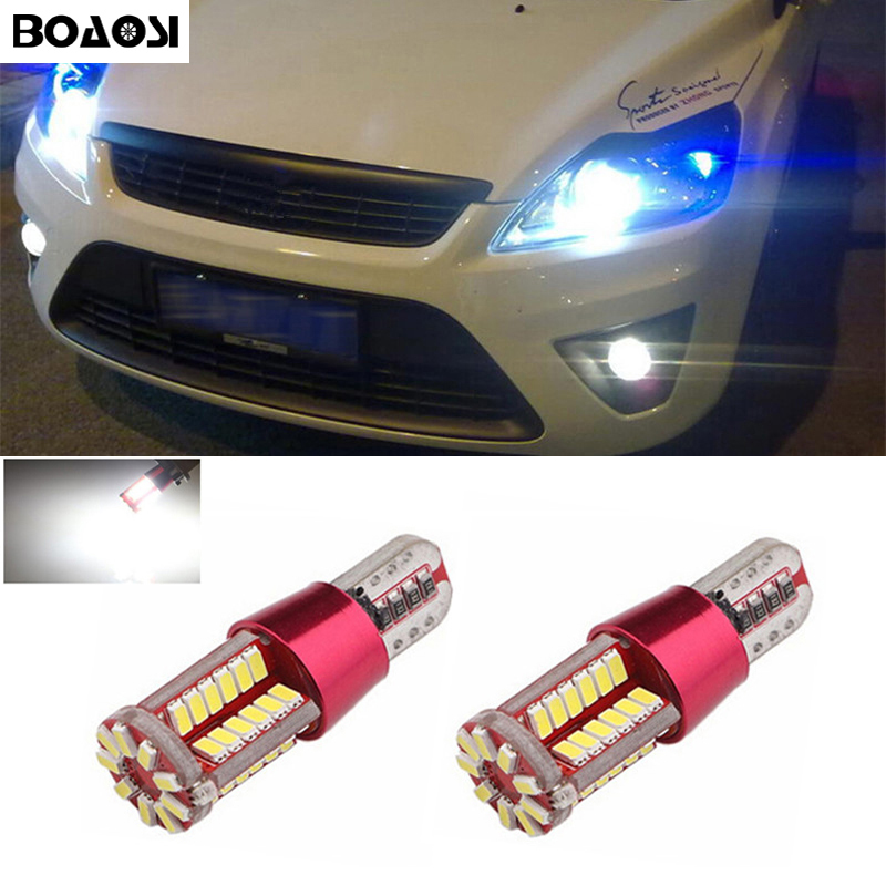BOAOSI 2x Car LED T10 W5W No Error Wedge Light For Ford