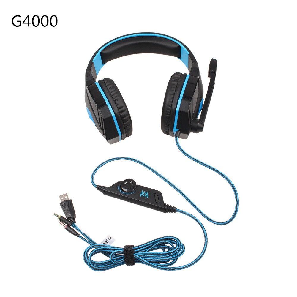G2000 G9000 игровые гарнитуры, большие наушники со световым микрофоном, стерео наушники с глубокими басами для ПК, компьютера, геймера, ноутбука, ...