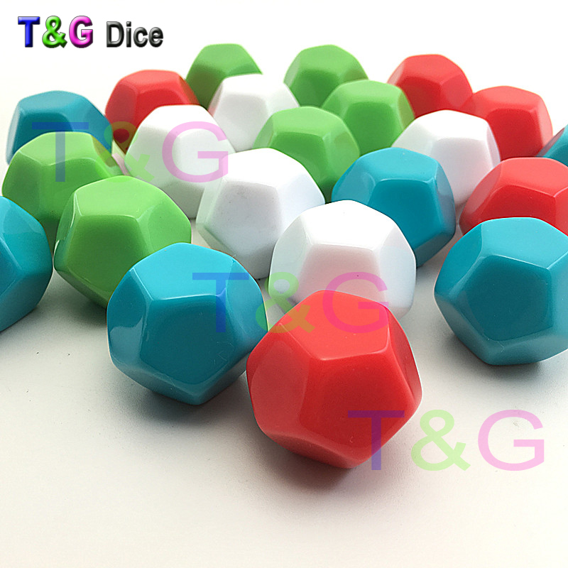 T&G New 2pcs 12-sided D12 white blank dice can be written by pen for board game and other game accessories High Quality
