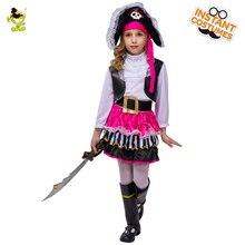 Costumi da pirata rosa per bambini costumi da festa per ragazze costume cosplay per bambini costume di natale di carnevale