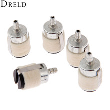 DRELD 5Pcs/lot Chain saw Brush Cutter Earth Auger Water Pump Parts Cotton Wool Fuel Filter Garden Tool Parts