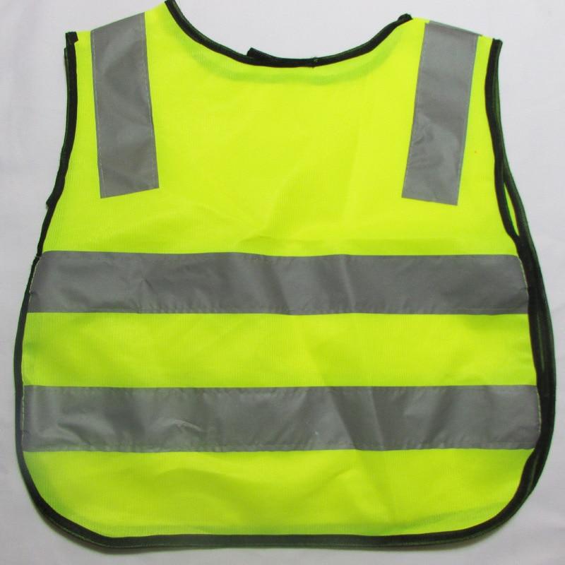 Safe and convenient Hot Sale Details Children Safety Waistcoat Vest Grey Reflective Strips Traffic Clothes Green Orange