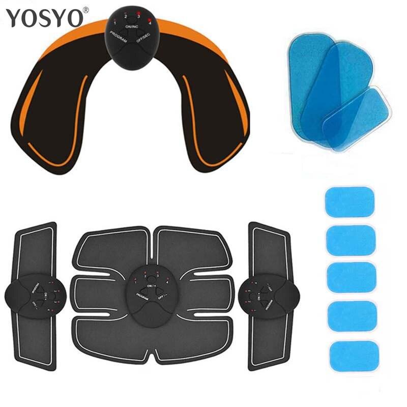 Inteligente EMS Estimulador Quadris Nádegas ABS Abdominal Trainer Estimulador Muscular Elétrica Sem Fio de Fitness Slimming Massageador Corporal Knit