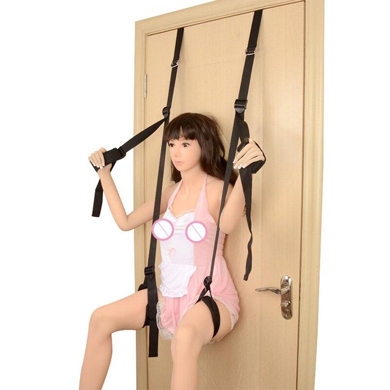 Sex Swing SM Bondage Restrain Erotic Sex Toys Hanging Door Swing Sex Furniture Rope Fetish Flirting Bdsm Bondage Women Sex Toys