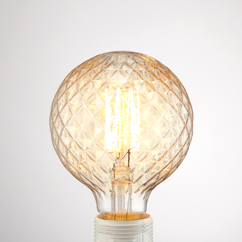 Globe Edison Bulb Retro G95 E27 220V Vintage Light Bulb Lamp Round Ball pineapple ananas shape Filament bulb Lighting luminaria