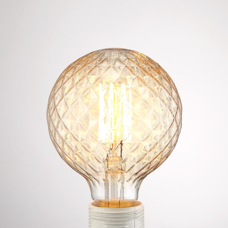 Globus Edison-birne Retro G95 E27 220 V Vintage Glühbirne Lampe Runde Ball ananas ananas form glühlampe Beleuchtung luminaria
