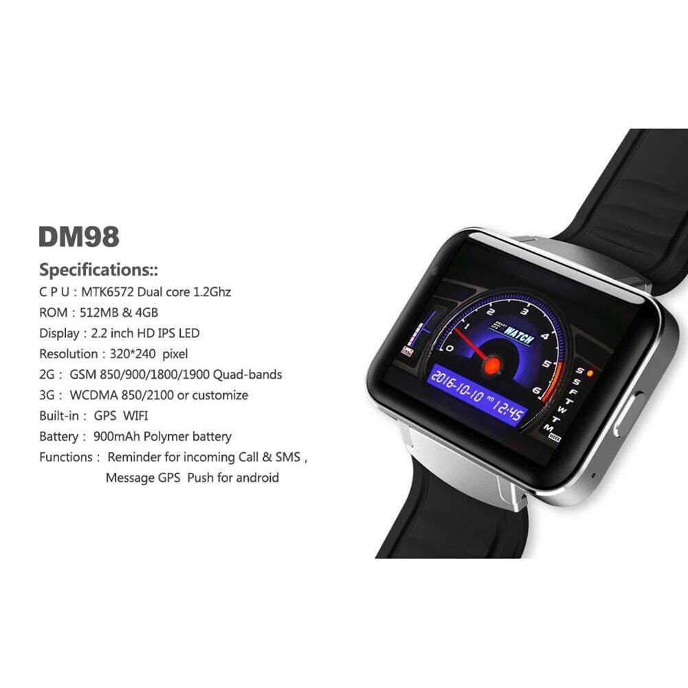 Смарт часы 2,2 дюймов Android OS 3g Smartwatch MTK6572 двухъядерный 1,2 ГГц 512 Мб ОЗУ 4 Гб ПЗУ камера WCDMA gps R20 - 6